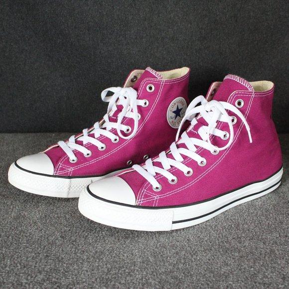 Converse Chuck Taylor All Star Pink Sapphire High Tops, Mens Size 10, Womens 12